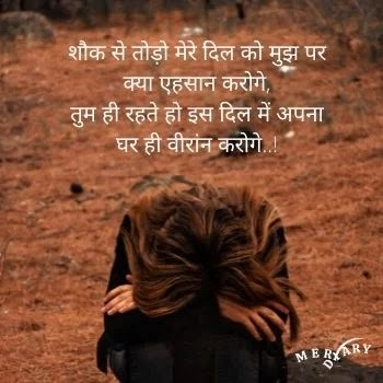 Hindi love hurt shayari