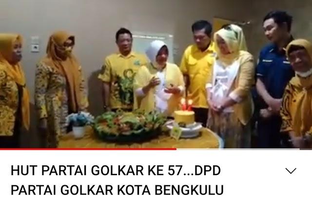 Kemeriahan HUT Ke 57 Golkar Kota Bengkulu