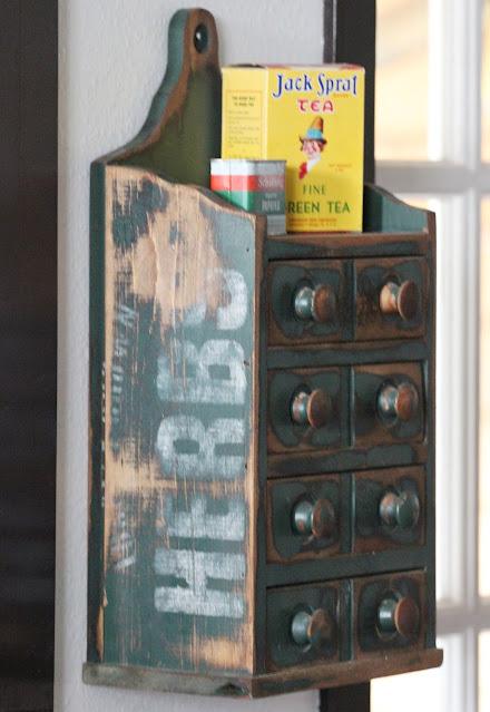 Thrifty Thursday Upcycled Primitive Spice Box