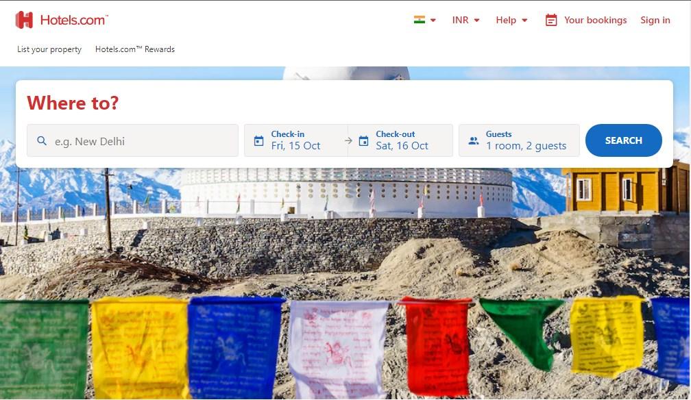 Hotels.com - Best 10 Hotel Booking App In India 2021 - Techmexo.com