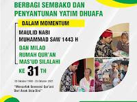Milad Ke - 31 Th. Rumah Qur'an Mas'ud Silalahi : Bagikan Sembako dan Penyantunan Yatim Dhuafa