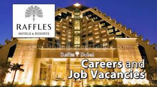 Raffles Dubai Hotel Jobs In Dubai For (26 Nos) Requirement