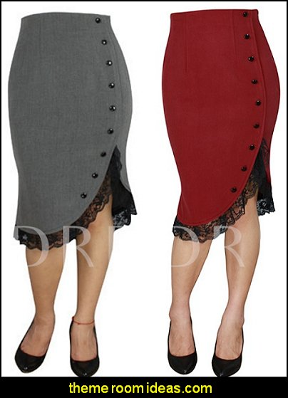 Button Bodycon Women's Skirt womens fashion womens clothing