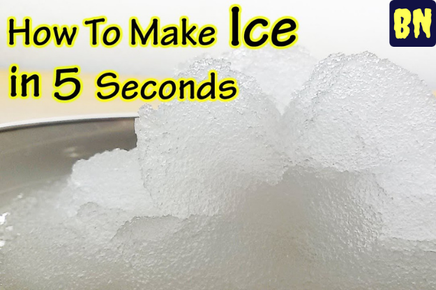 How Do You Make Ice In 5 Seconds?