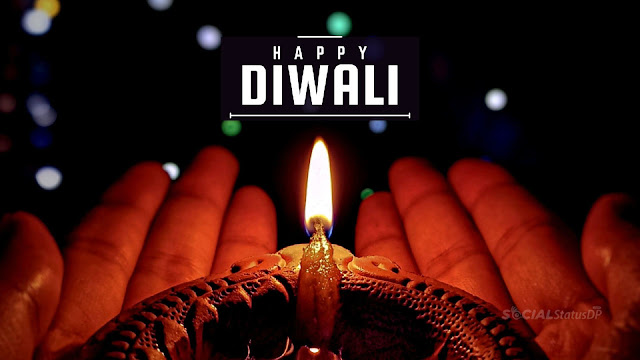 Happy Diwali Wishes Images made using a photograph of Diya or oil lamp