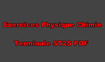 Exercices Physique Chimie Terminale ST2S PDF