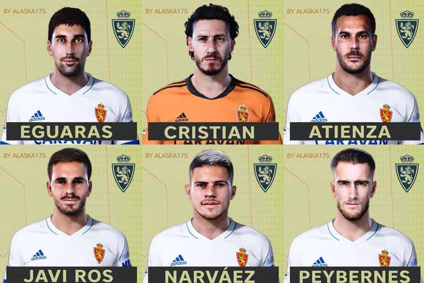 Facepack Real Zaragoza 20-21 For eFootball PES 2021