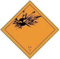 hazard class placards