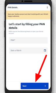 Upstox Account Opening Process, pan card on upstox