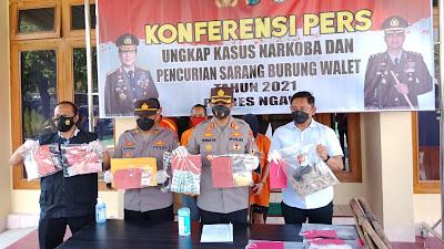 Dua Warga Ngawi Terjerat Kasus Narkoba, Polres Ngawi Berhasil Amankan 0,41 Gram Sabu