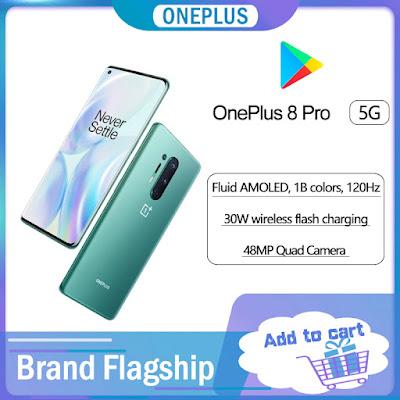 Global Rom Oneplus 8 Pro 5G Smartphone
