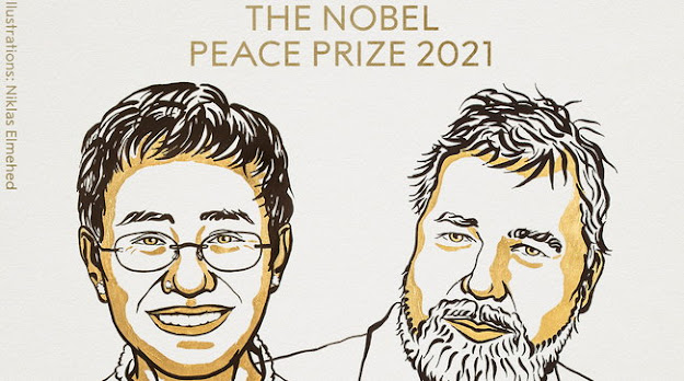 Nobel per la Pace 2021 ai giornalisti Maria Ressa e Dmitry Muratov