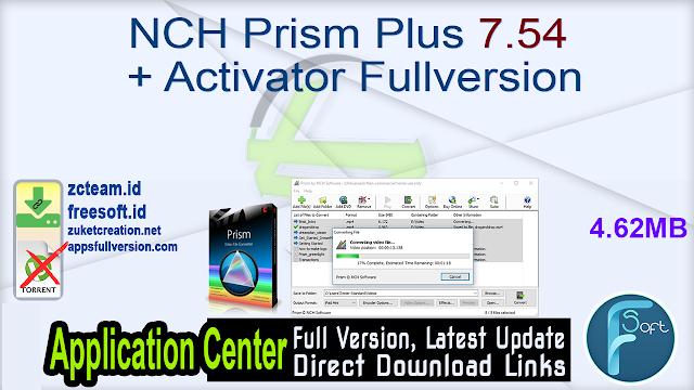 NCH Prism Plus 7.54 + Activator Fullversion