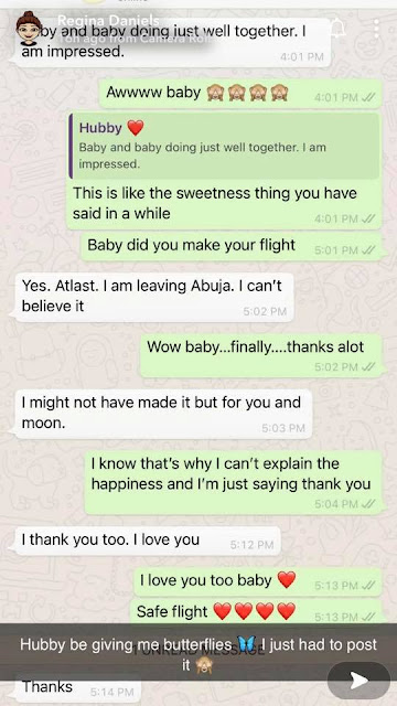 Hubby be giving me butterflies - Regina Daniels gushes as she shares chat between her and her Husband, Ned Nwoko