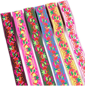Embroidered Jacquard Ribbons For Embellishment Craft Supplies