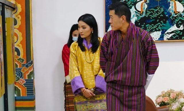 King Jigme Khesar Namgyel Wangchuck and Queen Jetsun Pema attended the formal inauguration of the A5-JKW Drukair Aircraft