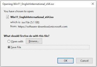 Ukuran file iso Windows 11 terbaru