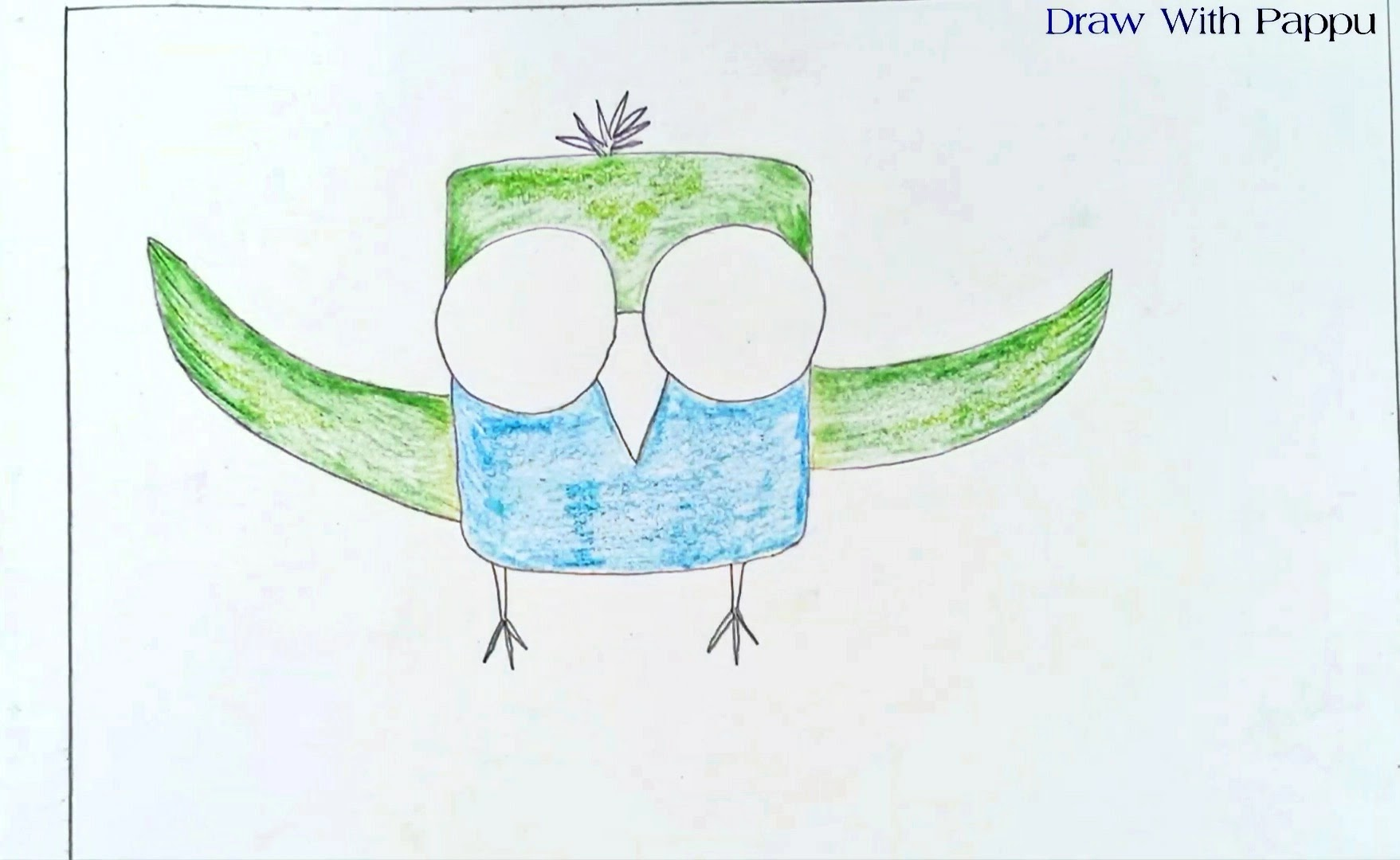 How To Draw An Owl Step By Step   Easy Drawing For Kids