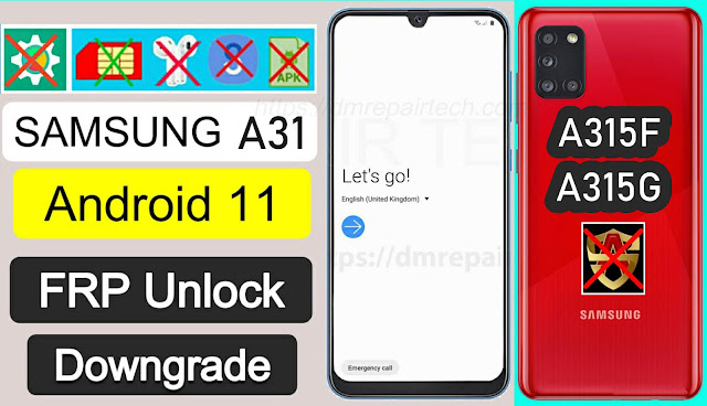 FRP Bypass Samsung A31 Android 11 Google Lock Remove Free