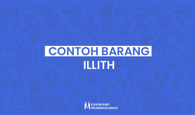 Contoh Barang illith dalam Kehidupan Sehari-hari