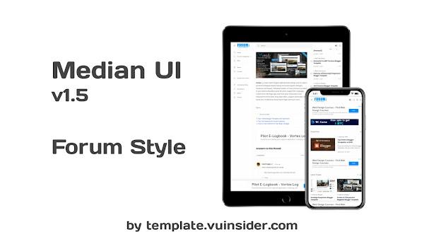 Median UI Forum Style Blogger Template