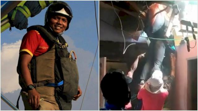 Atlet Gantole Asal Sumbar Tersangkut di Atap Rumah Warga saat Bertanding di PON XX Papua