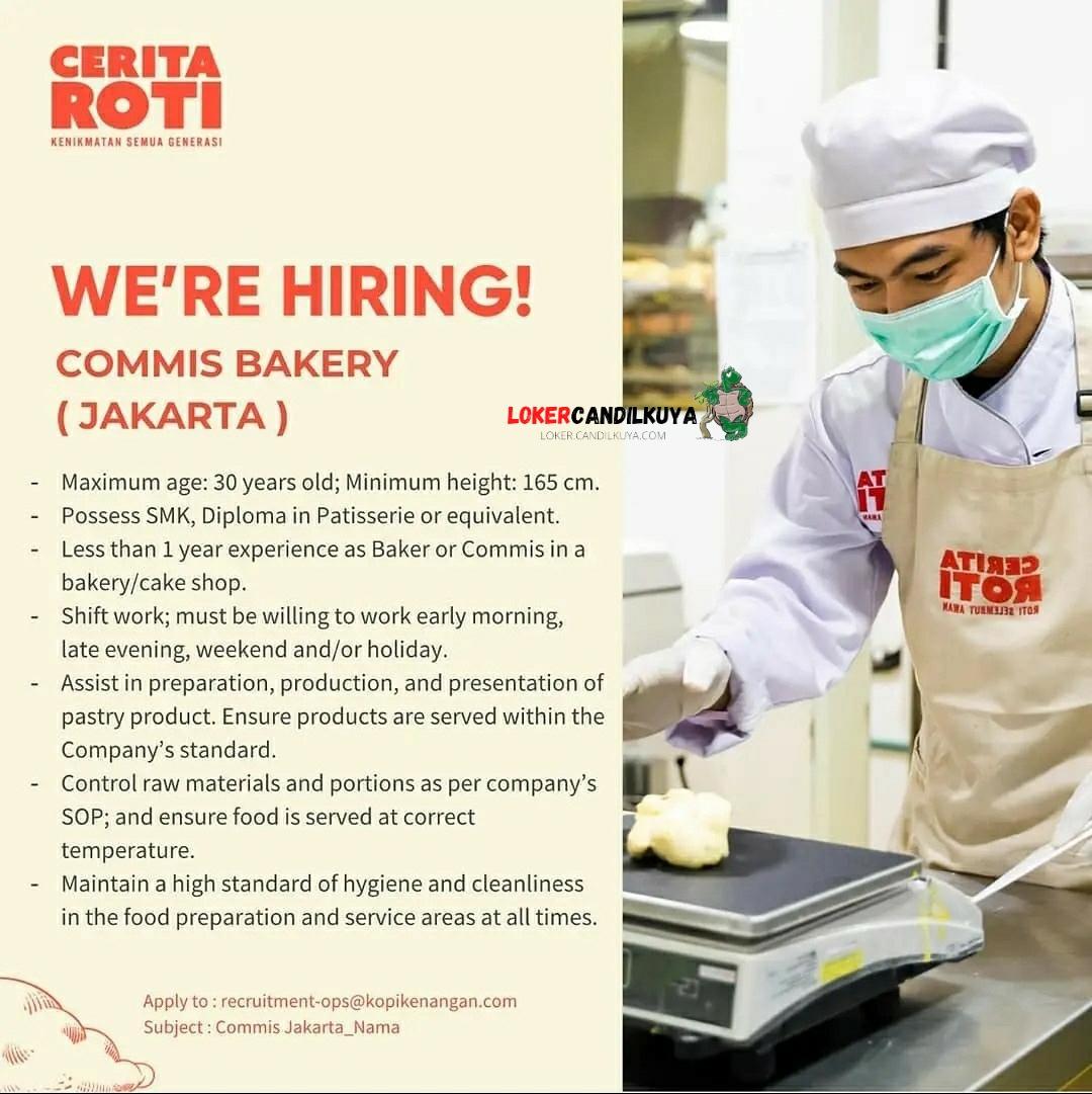 Lowongan Kerja Cerita Roti Jakarta