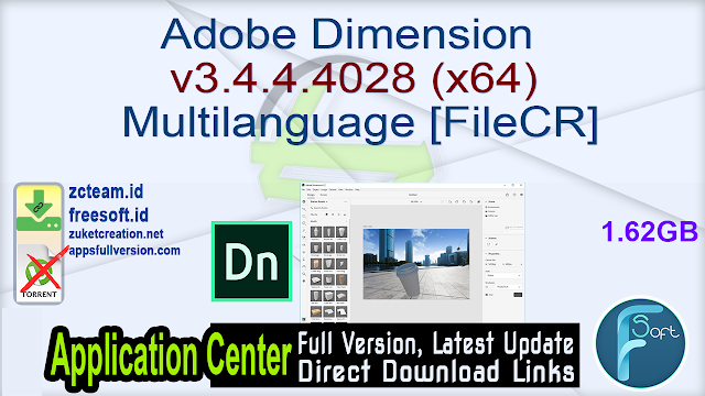 Adobe Dimension v3.4.4.4028 (x64) Multilanguage [FileCR]