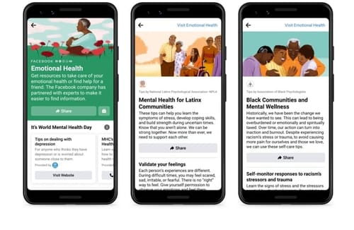 Facebook celebrates World Mental Health Day