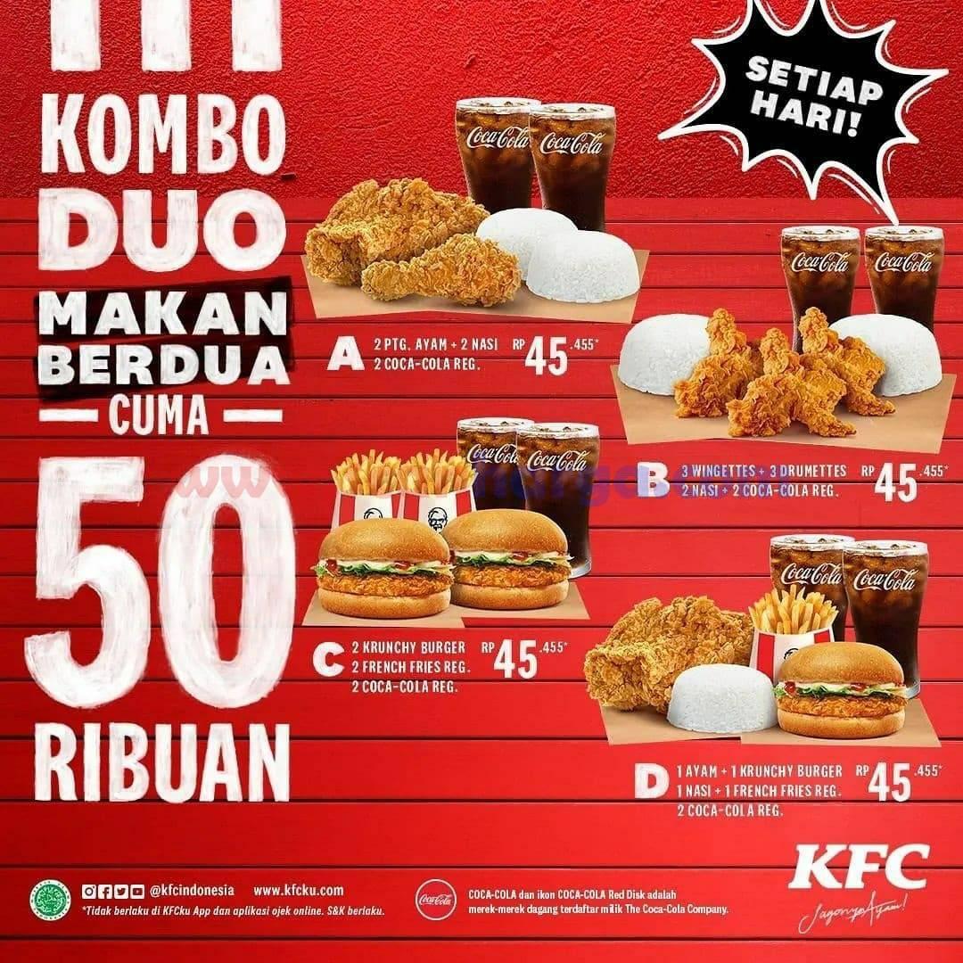 Promo KFC KOMBO DUO #4 Menu Combo Harga Masih @Rp. 50.000