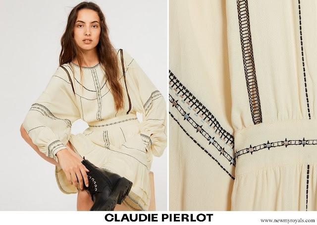 Infanta Sofia wore Claudie Pierlot short embroidered dress