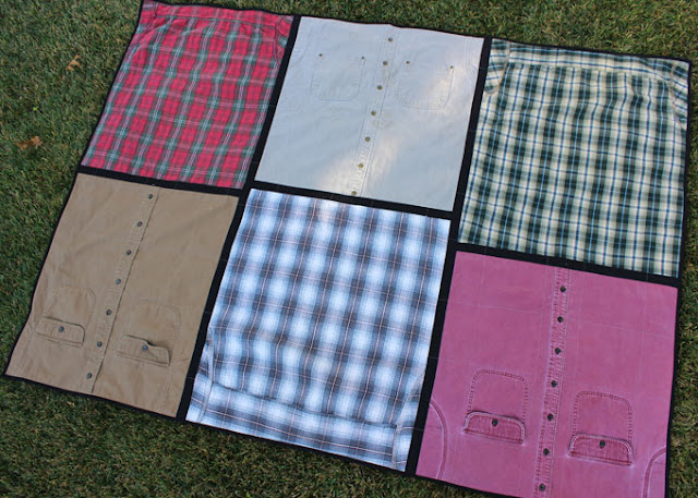 quilt from men's flannel and cotton shirts