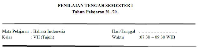 soal dan jawaban pts bahasa Indonesia kelas 7 SMP
