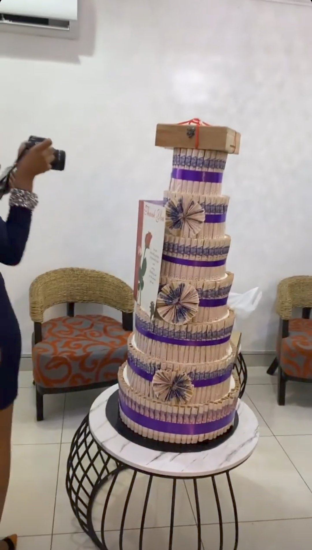 BBNaija: Saga receives more money, cake, cash, iPhone 13 and others from his lovely fans