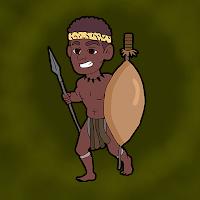 Fierce Zulu Warrior Escap…