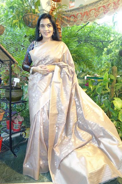 Ektara silk soft drape saree