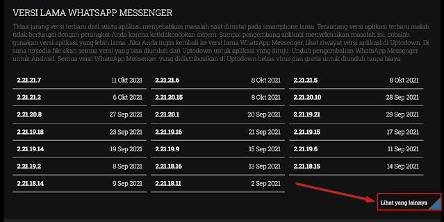 cara download wa apk versi lama