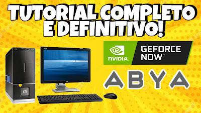 GEFORCE NOW BRASIL - COMO CRIAR CONTA e JOGAR no PC