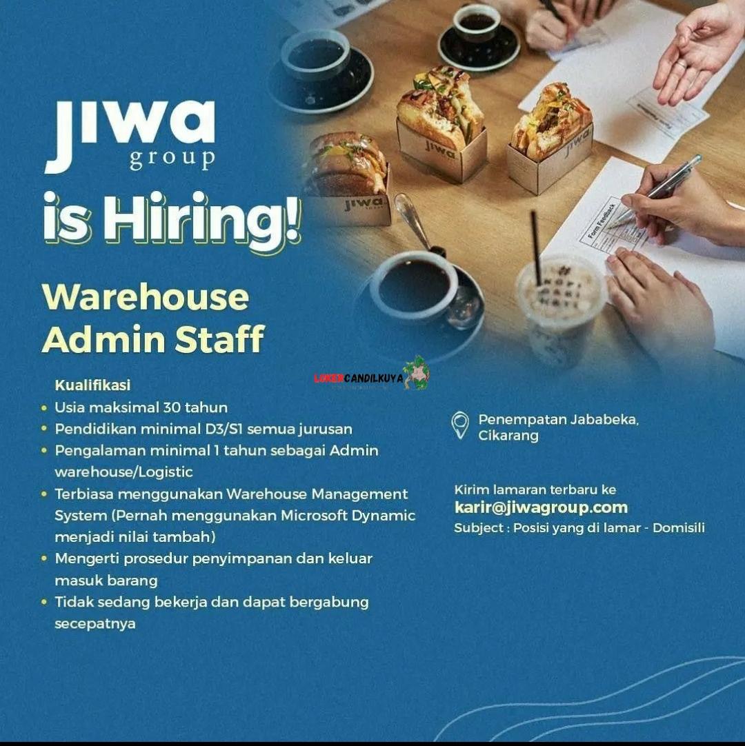 Lowongan Kerja Admin Staff Janji Jiwa Group
