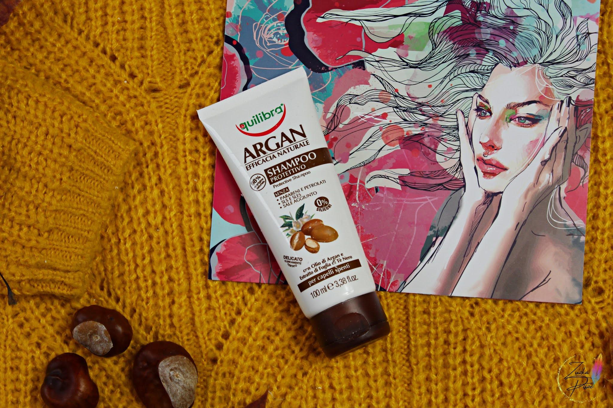 EQUILIBRA Arganowy szampon ochronny do włosów