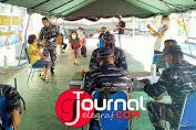 Antusiasme Masyarakat Maritim Ikuti Vaksinasi Ke-2 Di Markas Komando TNI AL - Lanal Tolitoli