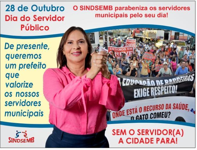 Sindsemb comemora Dia do Servidor nesta quinta-feira, 28, em Barreiras