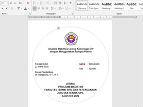 Download Cover CD Skripsi Yang Pas Dengan Ukuran Kertas Label CD Dari Microsoft Word