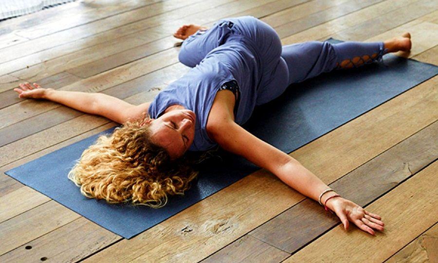 Supine Spinal Twist Pose