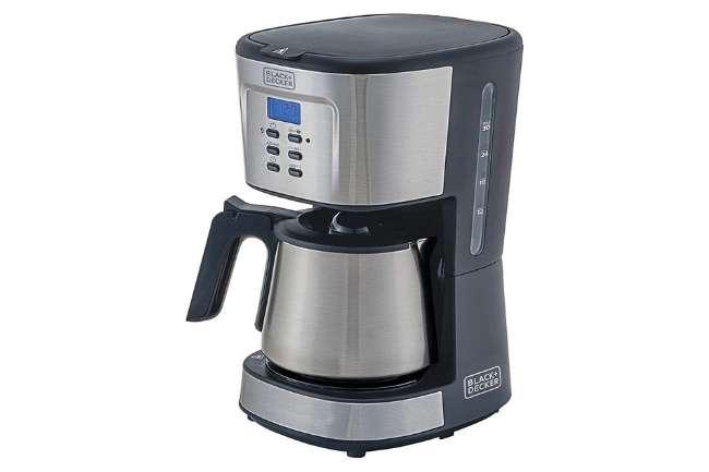 Cafeteira BLACK+DECKER Inox 30 Xicaras Gourmand Gris CM300G