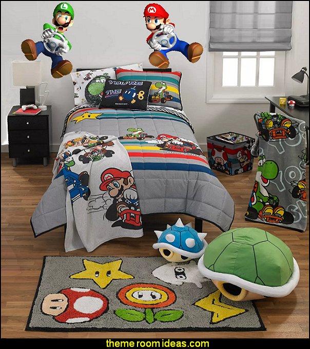 Mario Kart Kids Bedding Mario Kart bedroom decor mario bedroom decorations