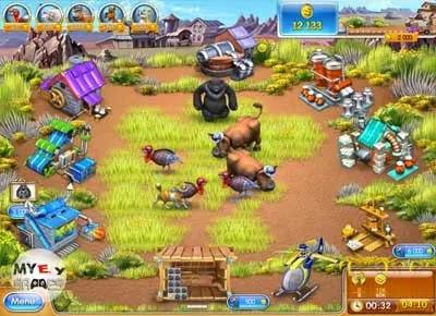 من داخل تحميل لعبة مزرعة الحيوانات 4 Farm Frenzy للكمبيوتر برابط مباشر من ميديا فاير