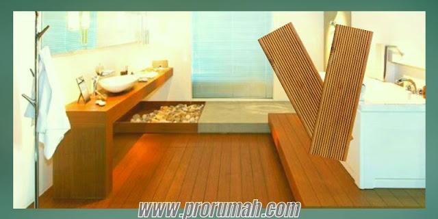 Jenis-jenis Lantai Kayu Tahan Air Berbahan Kayu Solid untuk Kamar Mandi - decking kayu ulin