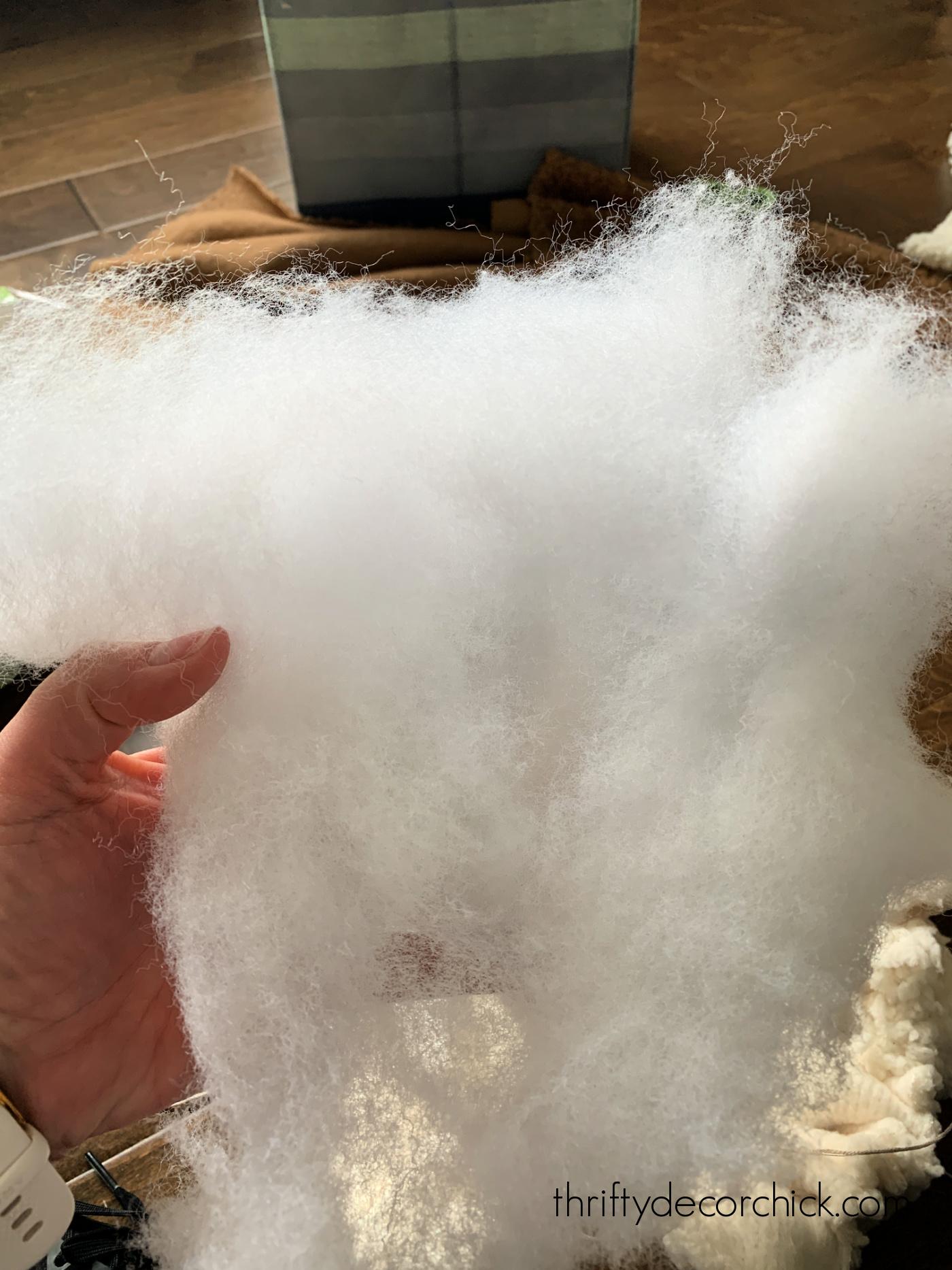 fluff up fiber fill