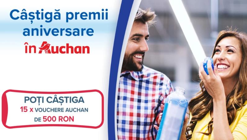 Concurs - Castiga premii aniversare in AUCHAN - concursuri - online